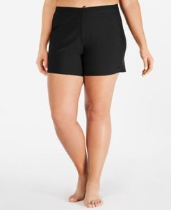 Plus Size Swim Shorts, Created for Macy's Women's Swimsuit