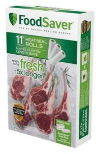 """11"""" x 16 Vacuum Seal Roll with Bpa-Free Multi-Layer Construction for Food Preservation, 3-Pack"""