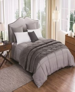 2pc Velvet Blanket and Down Alternative Comforter Set Twin Bedding