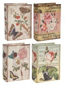 Nature Lover's Book Boxes, Flowers, Set of 4