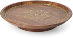 Global Tapestry Wood Lazy Susan