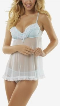Ruffles Galore Babydoll 2pc Lingerie Set, Online Only