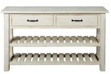 Barn Door Collection Sofa Table, Antique White