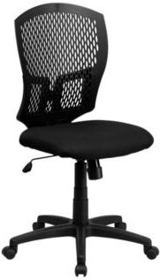 Offex Mid-Back Designer Back Task Chair with Padded Fabric Seat
