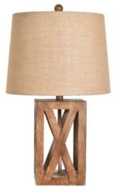 """Collection 25.75"""" Resin Wood Table Lamp"""