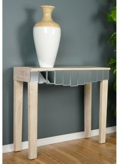 Heather Ann Catherine Mirrored Console Table with Drawer