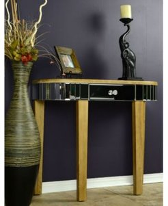 Heather Ann Elenor Mirrored Console Table with Drawer