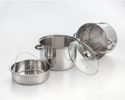 Cookpro 4 Piece Stainless Steel 8 Qt Multi-Cooker