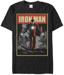 Comic Collection Vintage Iron Man Poster Short Sleeve T-Shirt