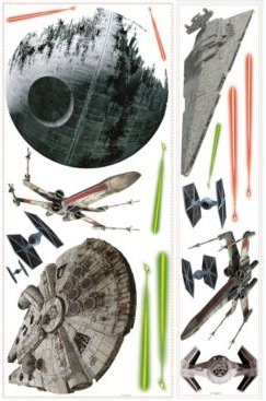 Star Wars Classic Space Ships Pands Giant Wall Decals