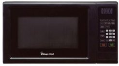 Magic Chef 1.1 Cubic Feet 1000W Countertop Microwave Oven with Push-Button Door