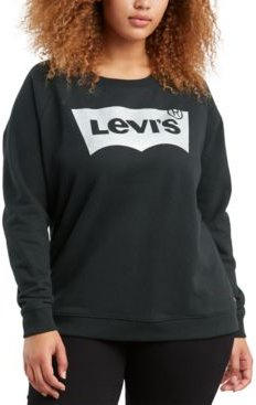 Batwing Trendy Plus Size Logo Graphic Sweatshirt