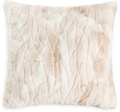 """Textured Faux Fur 20"""" x 20"""" Decorative Pillow, Created for Macy's Bedding"""