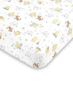 Classic Winnie the Pooh Fitted Mini Crib Sheet Bedding