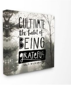 """Cultivate Being Greatful Foggy Landscape Canvas Wall Art, 17"""" x 17"""""""