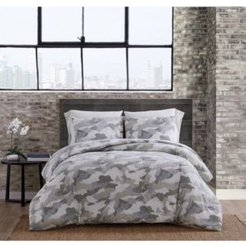 Garment Washed Camo Twin Extra Long Comforter Set Bedding
