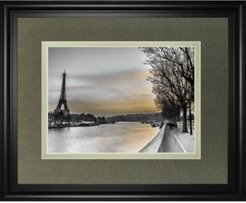 """River Seine and The Eiffel Tower by Assaf Frank Framed Print Wall Art - 34"""" x 40"""""""