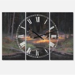 """Cub Scouts Oversized Traditional 3 Panels Wall Clock - 38"""" x 38"""" x 1"""""""