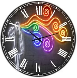 """the Dark Side of the Mind Large Modern Wall Clock - 23"""" x 23"""" x 1"""""""