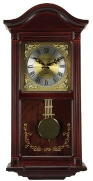 """Clock Collection 22"""" Wall Clock with Pendulum and Chimes"""