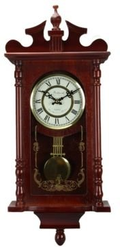 """Clock Collection 25"""" Wall Clock with Pendulum and Chime"""