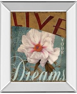 """Live Your Dream by Kelly Donovan Mirror Framed Print Wall Art, 22"""" x 26"""""""