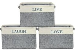 Twill Storage Basket, Set of 3