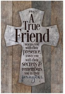 """a True Friend Warms You New Horizons Wood Plaque, 6"""" x 9"""""""