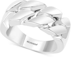 Effy Men's Polished Chain Link Statement Ring in Sterling Silver