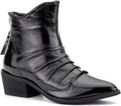 'Hold On' Crinkle Patent Ankle Boots Women's Shoes
