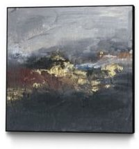 """30"""" x 30"""" Mountains in the Mist Ii Art Block Framed Canvas"""