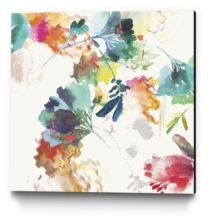 "30"" x 30"" Glitchy Floral Ii Museum Mounted Canvas Print"