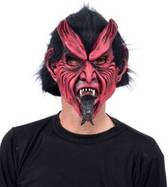ZagOne Size Studios Classic Devil With Tongue Latex Adult Costume Mask One Size
