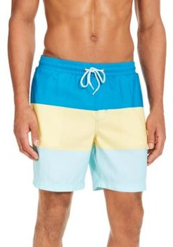 """Colorblocked 7"""" Swim Trunks, Created for Macy's"""