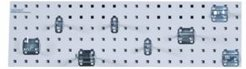 Locboard Garden Storage Kit with 1 18 Gauge Steel Square Hole Pegboard and 8 Piece Lochook Assortment
