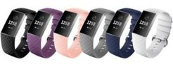 Unisex Fitbit Versa Charge 3 Assorted Silicone Watch Replacement Bands - Pack of 6