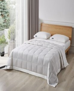 White Goose Feather And Down Fiber Blanket, Twin Bedding
