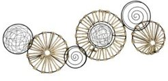 Metal and Rattan Large Centerpiece Wall Decor
