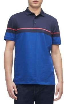Liquid Touch Colorblock Stripe Polo Shirt