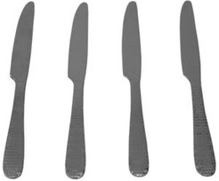 Hds Trading Corp Hammered Stainless Steel Dinner Knives, Pack of 4