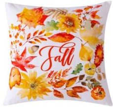 """Falling Leaves Decorative Pillow, 20"""" x 20"""""""
