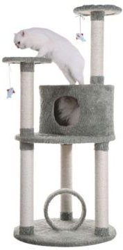 Multi-Level Cat Condo Furniture, Sisal Covered Scratcher