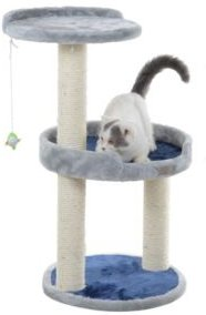 3 Level Compact Scratcher with Plush Perch