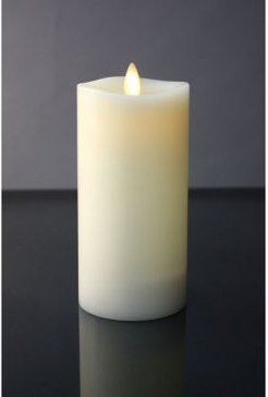 """6"""" Led Pillar Candle with Moving Flame Technology"""