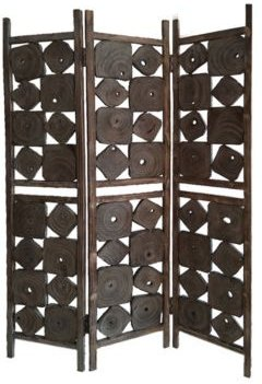Handcrafted Rustic 3 Panel Glenbrook Screen