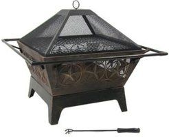 Northern Galaxy Large Square Wood Burning Outdoor Fire Pit