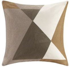 """Aero 20"""" x 20"""" Embroidered Abstract Square Pillow"""