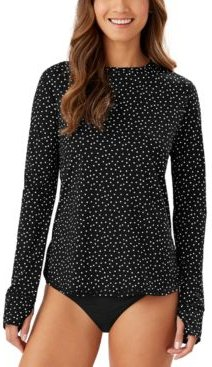 Sea Spray Dots Long-Sleeve Rash Guard Women's Swimsuit