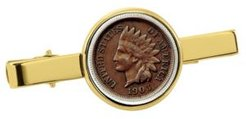 Indian Penny Coin Tie Clip