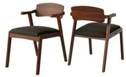 Millie Mid Century Modern Cherry Dining Arm Chair with Wood Seat Back Set of 2